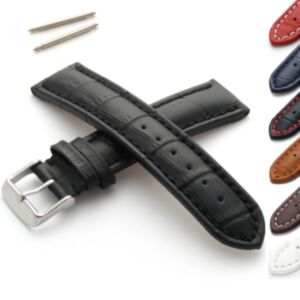 Alligator Grain Calf Leather Watch Strap