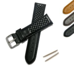 Calf Leather Watch Strap with Cross Stitching
