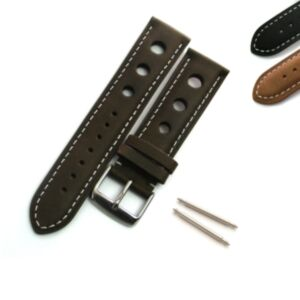 Calf Leather Watch Strap with 3 Hole Perforation