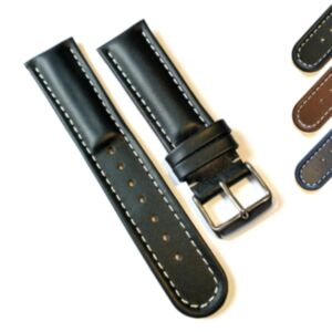 Padded Calf Leather Watch Straps