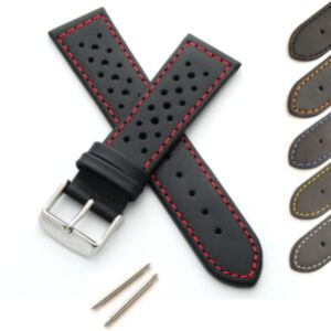 Calf Leather Watch Strap with Perforations