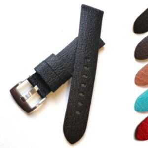 St Moritz Apple Fibre Vegan Watch Strap - Grained and Padded