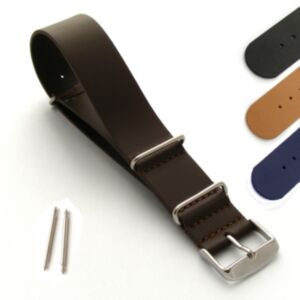 Leather Nato Style Military/Diver Watch Strap