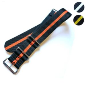 NATO Watch Strap (Two Colours - Chrome Buckle)