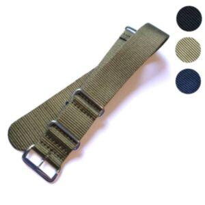 NATO Watch Strap (Single Colour - Chrome Buckle)